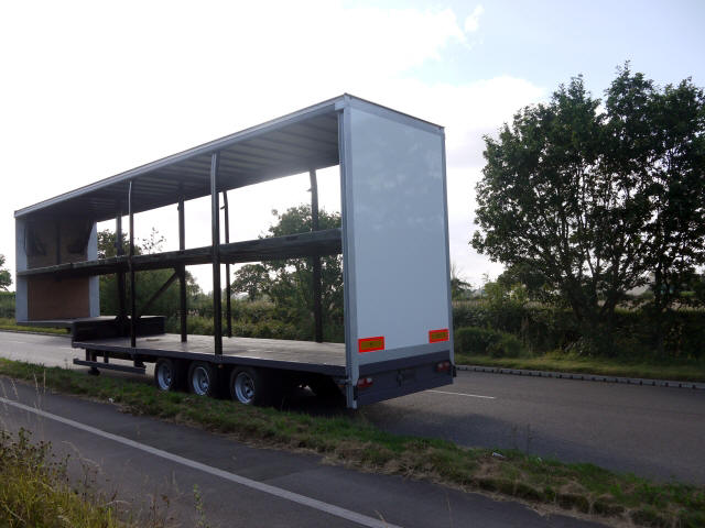 Adjustable Height Double Deck Trailer For Sale